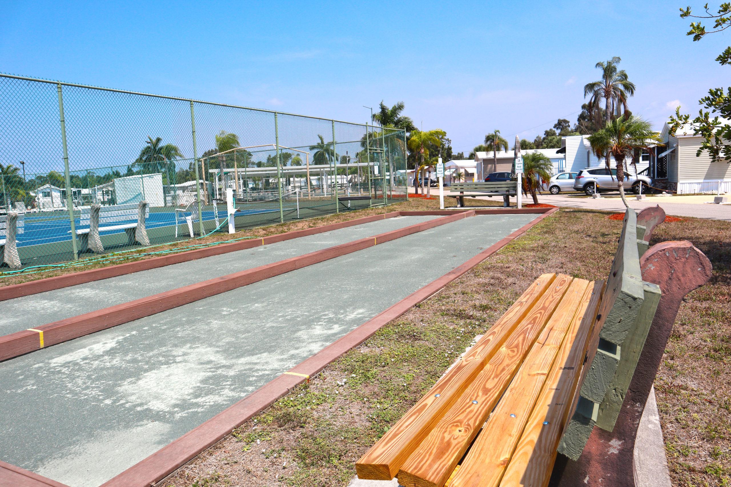 Cypress Bend RV Resort Amenities Bocce Ball