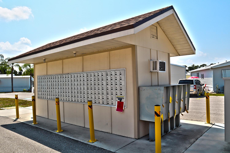 Cypress Bend RV Resort Amenities Mail box